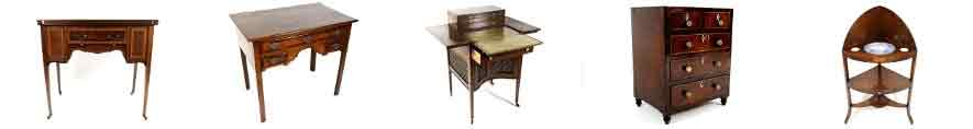 A collection of antique furniture